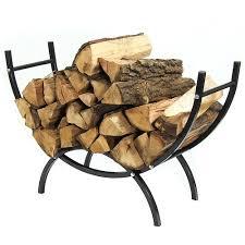 ... Sunnydaze Curved Firewood Log Rack - Options Available - Black ...