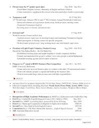 Sample Tutor Resume – Directory Resume Sample