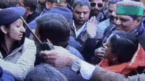 Video Captures Hp Mla Asha Kumari Slapping Cop Who Retaliates