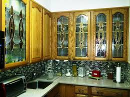 custom made elegant stained glass custom kitchen cabinet inserts ci 2