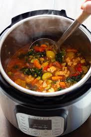 instant pot vegetable soup green