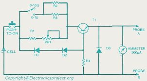 ohm meter electronics project circuit diagram ohm meter