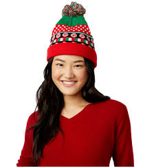 Planet Gold Size Chart Planet Gold Womens Candy Cane Lights Beanie Hat