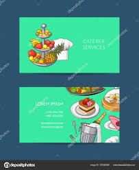 Visiting Card Design For Catering Services Catering Business Cards Templates Vector Business Card
