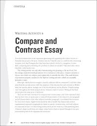 example of a comparison essay example comparecontrast tt  topics for a comparison or contrast essay example of a comparison essay
