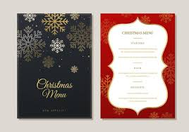 dinner template christmas menu dinner template download free vectors