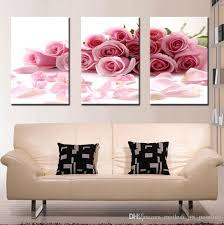 pink rose canvas wall art