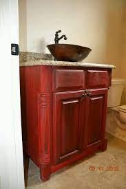 Bathroom Vanity In Red Distressed Glamorous Bathroom Decor Diy Bathroom Design Bathroom Vanity