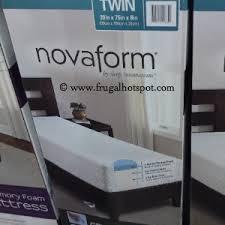 novaform mattress. sleep innovations novaform twin gel memory foam mattress