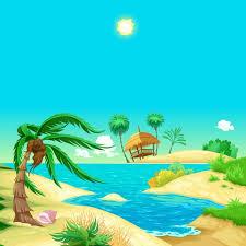 cartoon beach free vector