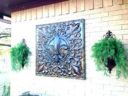 outdoor wall medallions medallion extra large art hangings metal exterior decor indoor