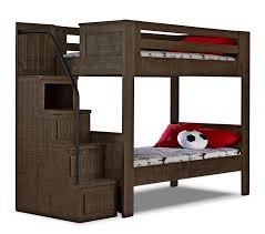 Phoenix Bedroom Furniture Phoenix Walnut Twin Staircase Bunk Bed Twin Kid And Solid Pine