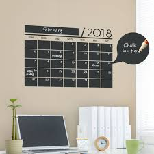 birds and branches wall decal 2018 chalkboard calendar