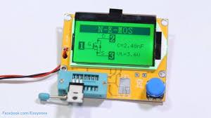 Lcr T4 Esr Meter Transistor Tester Diode Triode Capacitance Unboxing Test
