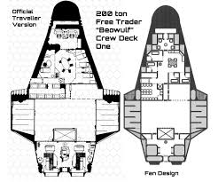 Space Master Medium Transport Deck Plan  Spaceships  Pinterest Spaceship Floor Plan
