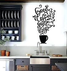 wall arts decal wall art decals fresh kitchen designs awesome vinyl e coffee restaurant