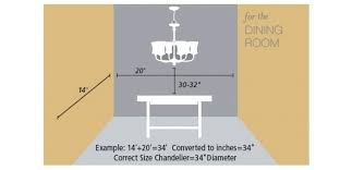 incroyable what size chandelier for dining room chandelier size for dining room finding the right size