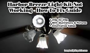 harbor breeze light kit not working