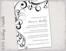 black and white invitation template wedding invitation templates black and white scroll invitations on free black