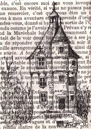 550x775 original aceo drawing on vine book page