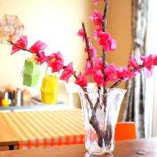 Paper Flower Crafts For Kindergarten Pink Stripey Socks Tissue Paper