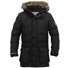 mens parka coats mens parka jacket crosshatch coat hooded padded