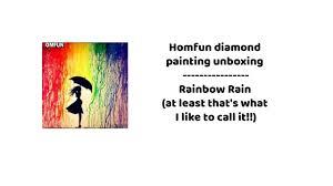 <b>Homfun</b> Official Store unboxing ~ Rainbow Rain <b>diamond painting</b> ...
