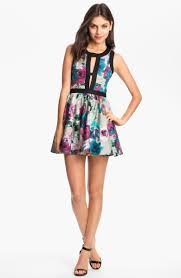 Day Dream Print Fit Flare Dress