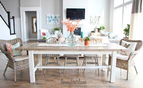 view larger diy farmhouse table and bench honeybear lane