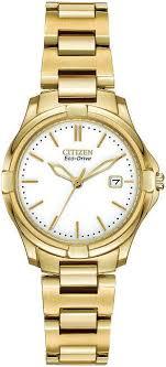 women s gold tone citizen eco drive silhouette sport watch ew1962 53a