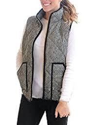 Women's Outerwear Vests | Amazon.com & Women's Slim Fall Lightweight Down Vest Outdoor Puffer Quilted Vest With  Zipper Adamdwight.com