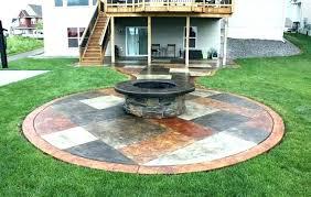 cement patio design backyard ideas concrete designs decorative plans