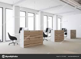 office corner. White Open Space Office Corner, Wooden Cubicles \u2014 Stock Photo Corner R