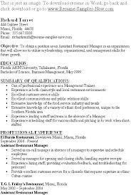 Restaurant Management Resumes Delectable Sample Resume Restaurant Manager Free Resume Template Evacassidyme
