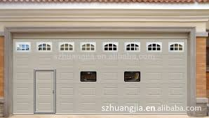 guangdong electric roll up galvanized steel safe entry garage doors with pedestrian door whole