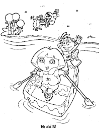 Small Picture Dora Coloring Pages and dora coloring pages 2 boots and dora