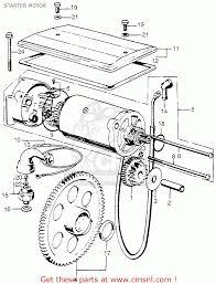 Honda cb750 four 1973 cb750k3 usa starter motor parts list partsfiche 1973 cb750 wiring diagram