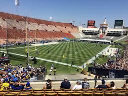 La Rams Seating Chart Los Angeles Memorial Coliseum Section 112 Rateyourseats Com