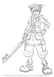 Small Picture Learn How to Draw Sora from Kingdom Hearts Kingdom Hearts Step