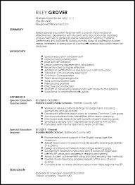 Educational Experience Resume Free Professional Special Education Teacher Resume Template Resume Now