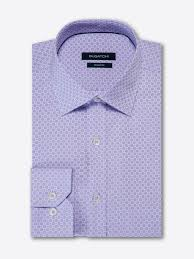 Shaped Fit Long Sleeve Tonal Checkerboard Jacquard Cotton Shirt