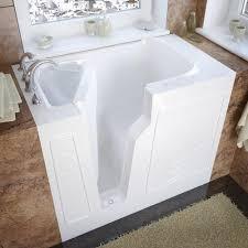 meditub 46 w x 26 d white soaking walk in bathtub left