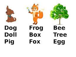Контрольная работа по английскому языку класс rainbow english  dog frog bee doll box tree pig fox egg