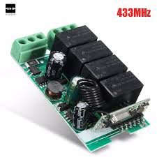 online get cheap relay 10a aliexpress com alibaba group cjy 2204 ac 220v 10a 433mhz 4 ch channel wireless rf relay remote control switch receiver integrated circuits board
