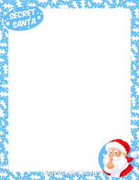 christmas santa borders and frames. Perfect Christmas Secret Santa Border With Christmas Borders And Frames D