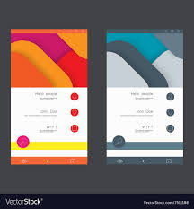 Set Of User Interface Templates To Date Design