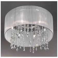 magnificent white ceiling lights paralume crystal chandelierceiling light white kolarz lighting