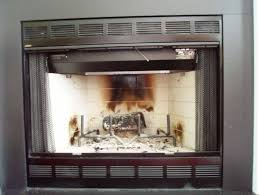 wood burning fireplace glass doors home fireplaces for beautiful fireplace screens with glass doors