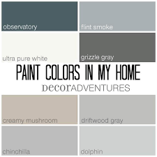 paint colors that go with oak trimPaint Colors in My Home  Free Printable  Decor Adventures