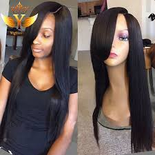mouse over to zoom in african american human hair wigs with bangs lace